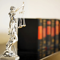 Lady of Justice and Legal Books